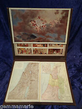 Victorian Bible Royal Scroll Illustrated instruction  maps & icon display book