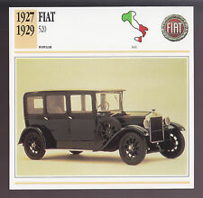 1927 1928 1929 Fiat 520 Limousine Italy Car Photo Spec Sheet Info ATLAS CARD