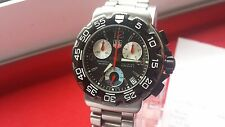 Watch Mens Chrono TAG Heuer F1 Formula 1 One CAC1111-0 Black ba0850-0 serviced