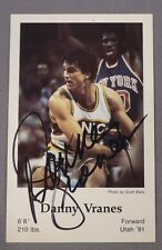 DANNY VRANES signed autograph Seattle Supersonics Police 1983-84
