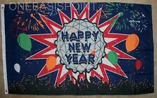 3'x5' Happy New Year's Day With Crystal Ball Flag Holiday Celebration Party 3X5