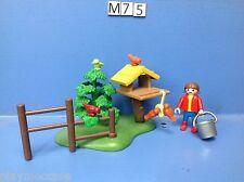 (M75) playmobil fillette et la cabanne à oiseaux 4203