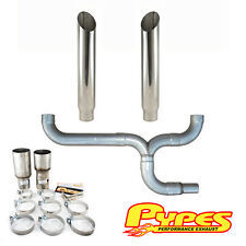"Ford Super Duty Power Stroke 6.0 Diesel PYPES 6"" Miter Cut Pypes Dual Stack Kit"