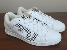 Vans Lavi Leather Skate Shoes Women's US 10 White Black Polka Dots Sneakers