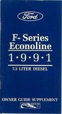1991 Ford Truck 7.3L Diesel Engine Owners Manual Supplement Operator Book Guide