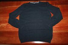 CELIO - PULL fin en laine coton noir COL rond  HOMME TAILLE S GARCON 12-14 ANS
