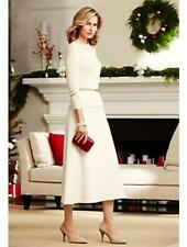 TALBOTS Ivory Italian Wool Riding Skirt 10 NWT Womans (MSRP $139)