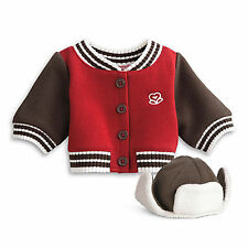 "American Girl BT BITTY TWIN VARSITY JACKET & CAP for 15"" Baby Dolls NEW"