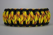 550 Paracord Survival Bracelet King Cobra Black/Yellow/Explode Camping Tactical