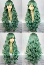 Watch Out Cosplay Long Curly Wig Purple Brown Green Ladies Wigs from WIWIGS UK
