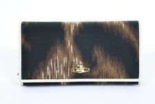 VIVIENNE WESTWOOD BROWN LEOPARD AFRICA ORB WALLET PURSE BOX BNWT XL