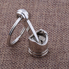 Auto Car SUV Vehicle Engine Silver Metal Piston Alloy Keychain Keyring Keyfob