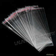 2000pc Clear Self Adhesive Seal Plastic Bags Jewellery Package Supplies 5x16cm C