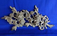 Vintage brass roses wall decoration flowers door wreath leaves metal