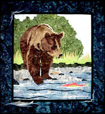 Day on the River Grizzly Bear Salmon Wildfire Designs Alaska Quilt Pattern