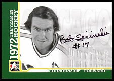 09 ITG 1972 THE YEAR IN HOCKEY WHA AUTO AUTOGRAPH BOB SICINSKI CHICAGO COUGARS