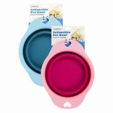 Collapsible travel bowl Dog water bowl food bowl Pink/Blue Pet bowl