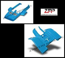NEW YAMAHA BANSHEE YFZ 350 ELECTRIC BLUE RACE FRONT AND REAR FENDER SET PLASTIC
