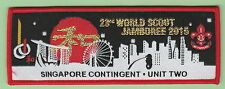 2015 world scout jamboree Japan / SINGAPORE Contingent UNIT TWO  patch