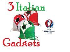 EURO 2016 Coca Cola Coke Italian Gadget 3 x flag bag