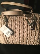 NWT Coach Madison Gathered Chevron Leather Madeline East/West Satchel 25985sv/pu