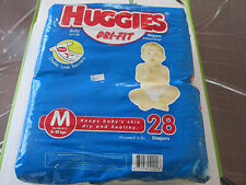 VINTAGE HUGGIES DRI-FIT PLASTIC DIAPERS SIZE MEDIUM FROM 1998 FROM THAILAND!