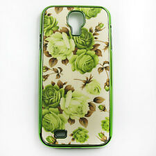 Vintage Luxury Flower Rose Red Green Purple Case Cover Skin for Samsung S4 i9500
