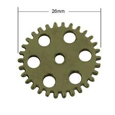 10 x Cog Watch Part Charms-Antique Bronze Steampunk-Wheel Gear LF NF 26mm TS312