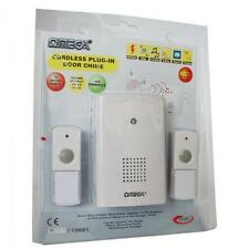 Omega 17322 Mains Plug In Cordless Wireless Door Bell Chime Twin Bell Push White