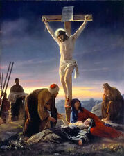 Oil painting carl heinrich bloch - Good Friday - the crucifixion Christ on cross