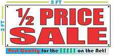 Red HALF PRICE SALE 2X5 Banner Sign NEW Size Best Quality for The $$$ 1/2
