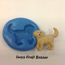 Silicone Mould Labrador Dog Sugarcraft Cup Cake Pop Topper Decorating Sculpey