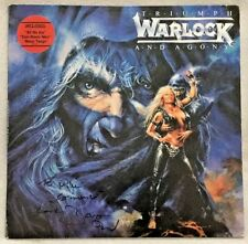 "Autographed Warlock ""Triumph And Agony"" Vinyl Doro Pesch"