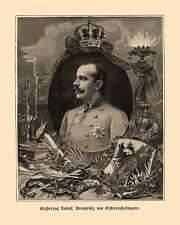 Erzherzog Rudolf Kronprinz von Österreich Ungarn K&K Habsburger Holzstich D 09