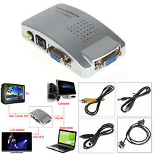 ADATTATORE CONVERTITORE COMPUTER PC NOTEBOOK DA VGA A RCA S-VIDEO TV PROIETTORE