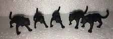 "Lot of 5 Black Panther 2.5"" Figures Figurines Safari Cake Topper jaugar"