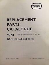 Triumph 1972 Bonneville, Tiger and Trophy Parts Catalog #99-0953