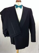 Canali Tuxedo Suit Jacket 42L Pants 36 in. Waist Bottoni Smoking Mens Black Wool