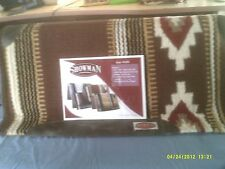 Saddle Pad Showman Memory Foam Aztec Pattern , Brown,Tan Red and Cream,