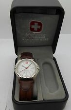 Men's Wenger Swiss Army SAK Design Standard Issue Watch with Leather Strap
