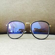 Black and Gold Frame Oversized Retro Nerdy Geek Vintage Fashion  Glasses 70s 80s