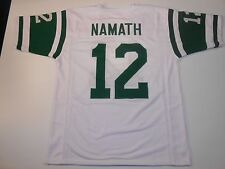 New York Jets Joe Namath UNSIGNED CUSTOM White Jersey - Medium