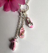 925 ECHT SILBER *** Collier Kette mit Einhänger pink rosa 38 - 44 cm
