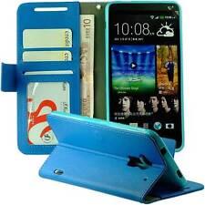 Handytasche im Bookstyle für HTC ONE MAX T6 Kunstleder Etui Case blau