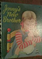 Jenny's New Brother by Elaine Evans  Gold Little Golden Book # 416 Sydney Ed