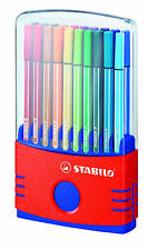 STABILO PEN 68 FELT/FIBRE TIP PENS COLOR PARADE - 20 PEN SET IN DESKTOP CASE