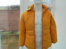 Ladies Manudieci Down Jacket coat Yellow Puffa Fitted M Medium