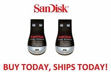 2x LOT Genuine Sandisk SDDR-121-G35 MobileMate MicroSD to USB Card Drive Reader