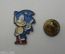 SONIC THE HEDGEHOG Mega RARA VARIANTE Vintage Smalto Metallo pin badge pin locale MD