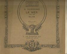 La Mer Ballade de A. Boroduine Spartito per Canto e Pianoforte 1920